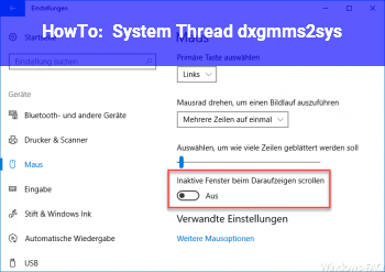 HowTo System_Thread ( dxgmms2.sys)