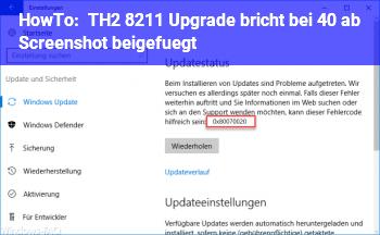HowTo TH2 – Upgrade bricht bei 40% ab (Screenshot beigefügt)