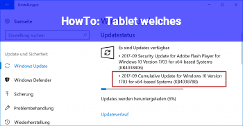 HowTo Tablet welches