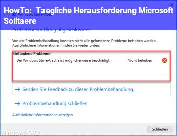 HowTo Tägliche Herausforderung Microsoft Solitäre