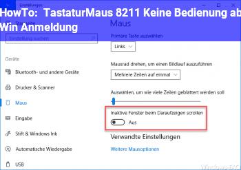HowTo Tastatur/Maus – Keine Bedienung ab Win Anmeldung
