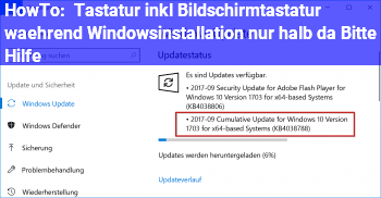 """HowTo Tastatur (inkl. Bildschirmtastatur) während Windowsinstallation """"nur halb"""" da! Bitte Hilfe!"""