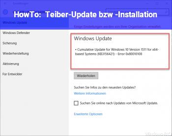 HowTo Teiber-Update bzw. -Installation