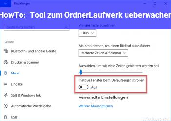 HowTo Tool zum Ordner/Laufwerk überwachen?!