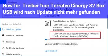 HowTo Treiber für Terratec Cinergy S2 Box USB wird nach Update nicht mehr gefunden