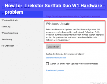 HowTo Trekstor Surftab Duo W1 Hardware problem