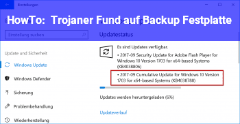 HowTo Trojaner Fund auf Backup Festplatte