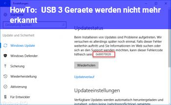 HowTo USB 3 Geräte werden nicht mehr erkannt