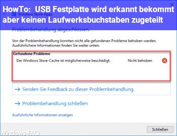 HowTo USB Festplatte wird erkannt bekommt aber keinen Laufwerksbuchstaben zugeteilt