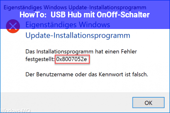 HowTo USB Hub mit On/Off-Schalter