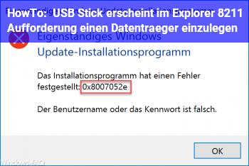 HowTo USB Stick erscheint im Explorer – Aufforderung, einen Datenträger einzulegen