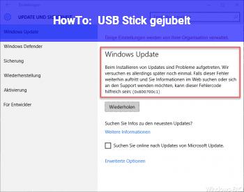 HowTo USB Stick gejubelt?