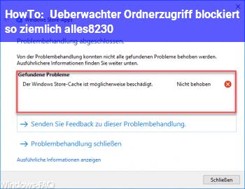 HowTo Überwachter Ordnerzugriff blockiert so ziemlich alles…!