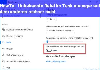 HowTo Unbekannte Datei im Task manager (auf dem anderen rechner nicht)