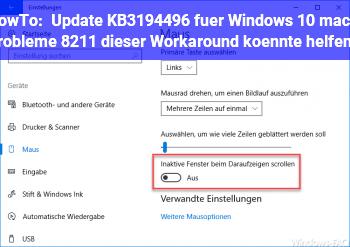 HowTo Update KB3194496 für Windows 10 macht Probleme – dieser Workaround könnte helfen