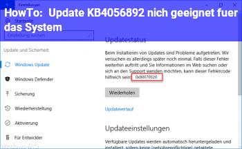 """HowTo Update KB4056892 """"nich geeignet für das System"""""""
