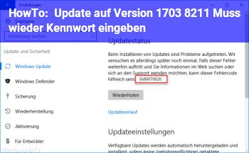 HowTo Update auf Version 1703 – Muss wieder Kennwort eingeben.