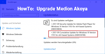 HowTo Upgrade Medion Akoya
