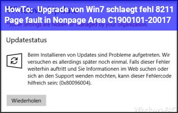 HowTo Upgrade von Win7 schlägt fehl – Page fault in Nonpage Area C1900101-20017