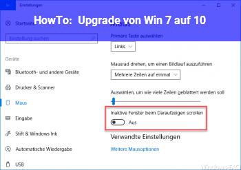 HowTo Upgrade von Win 7 auf 10