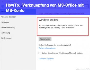 HowTo Verknüpfung von MS-Office mit MS-Konto