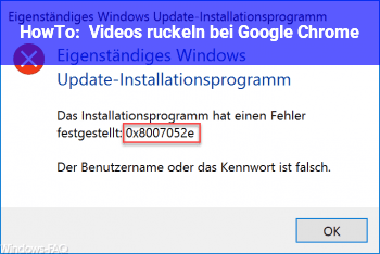 HowTo Videos ruckeln bei Google Chrome