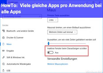 HowTo Viele gleiche Apps pro Anwendung bei alle Apps