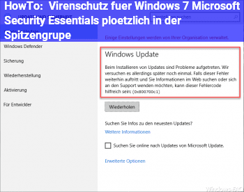 HowTo Virenschutz für Windows 7: Microsoft Security Essentials plötzlich in der Spitzengrupe