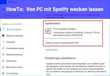 HowTo Von PC mit Spotify wecken lassen
