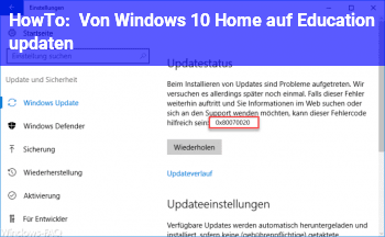 HowTo Von Windows 10 Home auf Education updaten?