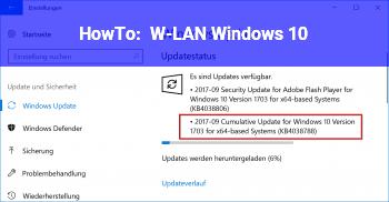 HowTo W-LAN Windows 10