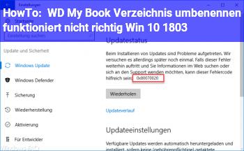HowTo WD My Book Verzeichnis umbenennen funktioniert nicht richtig. (Win 10 1803)