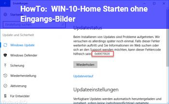 """HowTo WIN-10-Home Starten ohne """"Eingangs-Bilder"""" ?"""