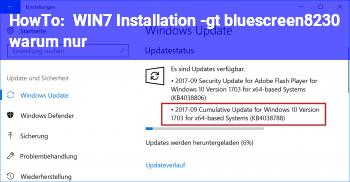 HowTo WIN7 Installation -> bluescreen… warum nur??