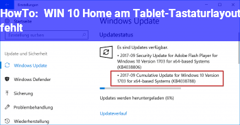 HowTo WIN 10 Home am Tablet-Tastaturlayout fehlt