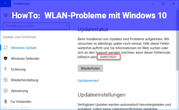 HowTo WLAN-Probleme mit Windows 10