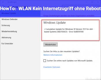 HowTo WLAN: Kein Internetzugriff ohne Reboot
