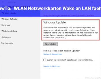 HowTo WLAN Netzwerkkarten Wake on LAN fähig?