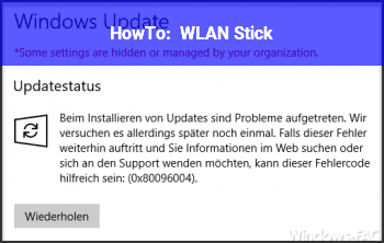 HowTo WLAN Stick