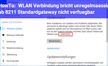 Standardgateway Nicht Verfügbar Wlan
