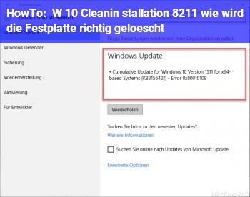 HowTo W 10 Cleanin stallation – wie wird die Festplatte richtig gelöscht?