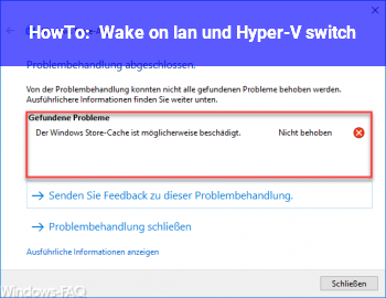 HowTo Wake on lan und Hyper-V switch