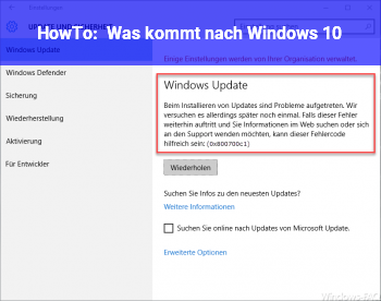 HowTo Was kommt nach Windows 10?