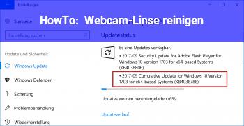 HowTo Webcam-Linse reinigen