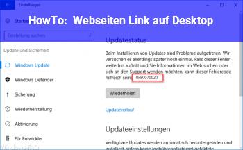 HowTo Webseiten Link auf Desktop
