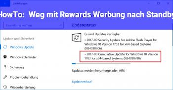 HowTo Weg mit Rewards Werbung nach Standby