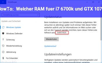 HowTo Welcher RAM für i7 6700k und GTX 1070?