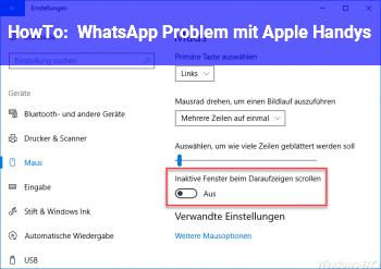 HowTo WhatsApp Problem mit Apple Handys