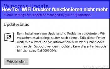 HowTo WiFi Drucker funktionieren nicht mehr