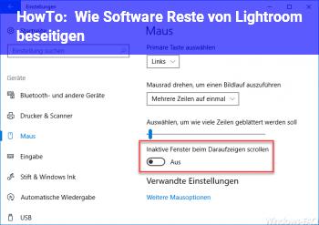 HowTo Wie Software Reste von Lightroom beseitigen